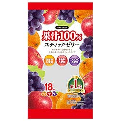 リボン 18本果汁100% スティックゼリー 18本×12袋入×(2ケース)