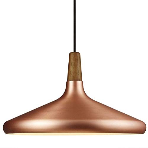 39cm hanglamp industriële modern van aluminium vintage met lampenkap voor bar plafondlamp bar bar keuken hanglamp (verchroomd)