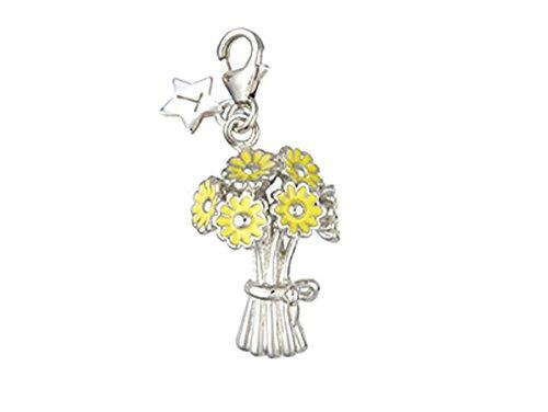 Tingle London silber & Gelb Charms Blumenstrauß