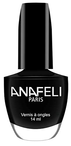 Anafeli Paris - Esmalte de uñas, color negro mate