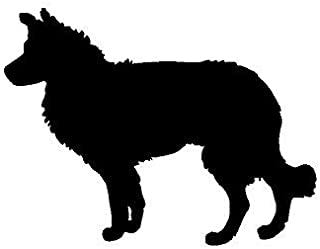 GMK Border Collie Cake Or Cupcake Topper Dog Breed Additions Border Collie Comes with Attached Cake Stake for Placement of Your Choosing