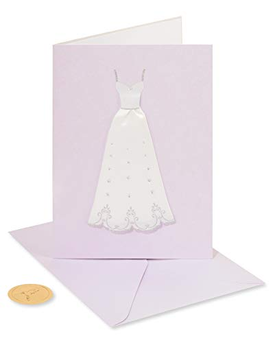 Papyrus Wedding Shower Card for the Bride-to-Be (Handmade Bridal Gown)
