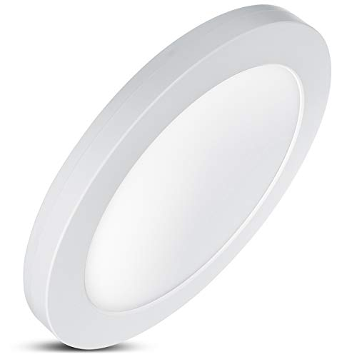 LED4U LD130 LED-paneel met kleurtemperatuurinstelling WW 3000K + NW 4000K + CW 6000 K plafondlamp super slim design 19 mm (18W), 18 W