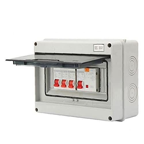 3 Interruptor de manera Unidad de Consumo de circuito del panel de protección de fuga 63A 30mA RCD 3MCB 6A 16A 32A disyuntor