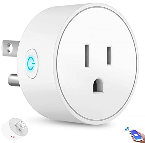 VJK Smart Plug WiFi Outlet Mini Socket Compatible with Alexa Google Assistant, Smart Socket Voice...