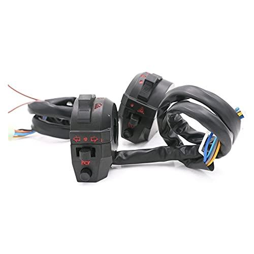 linger Universal 22mm 7/8'Interruptores de Motocicleta Motorbike Cuerno de Girar la señal eléctrica de la lámpara de la lámpara de la lámpara de la lámpara de la luz del Manillar del Manillar