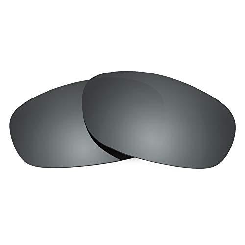 Revant Verres de Rechange Compatibles avec Ray-Ban Predator 2 RB2027 62mm, Polarisés, Chrome Noir MirrorShield