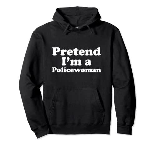 Disfraz divertido de Halloween para mujer de policía Sudadera con Capucha