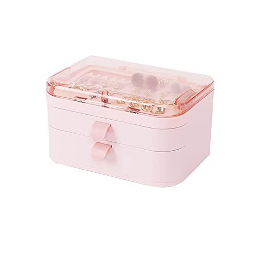 HRTX Caja Joyero,Portátil Joyero Viaje Cajas para Joyas Jewelry Organizer para Mujer, para Anillos, Aretes, Pendientes, Pulseras Collares