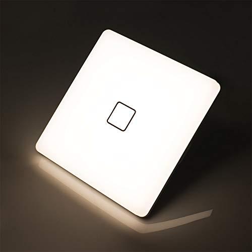 Öuesen LED Deckenleuchte Wasserdicht Lampe Decke Moderne Quadratische Dünne 24W 2050LM IP44 4000K Natürliches Deckenlampe Φ32CM, für Wohnzimmer Schlafzimmer Bad Badezimmer Küche Esszimmer