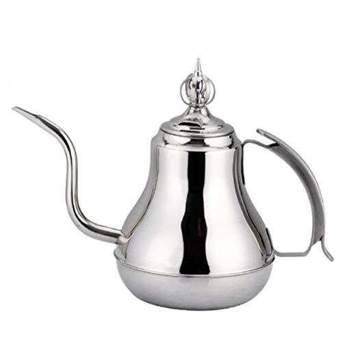 zyl Langhals-Induktionskochfeld-Wasserkocher Teekanne Krone Modellierung Hervorhebung aristokratisches Verhalten (mit Filter) Silber