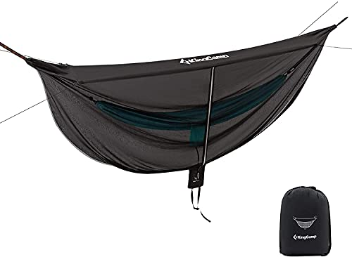 KingCamp Hammock Mosquito Net 12ft Grid Net Lightweight Portable Hammock Netting Fast Easy Set Up Fits All Single/Double Camping Hammocks Perfect Accessory for All Hammocks