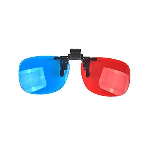 Gafas estéreo 3D, lentes 3D con tecnología estéreo, utilizadas para películas 3D, TV o juegos de PC (rojo y azul)