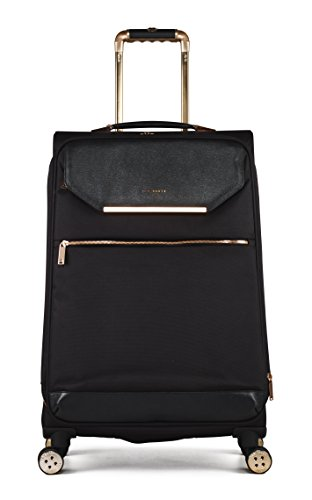 Ted Baker Womens Albany Softside 4WL Medium Trolley (One Size, Black)