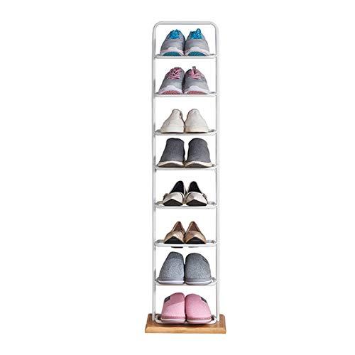Yingm Zapatero para Dormitorio O Pasillo Organizador de Almacenamiento de Zapatos de 8 Capas Rack de Zapatos duraderos Ideal De Pasillo (Color : Blanco, Size : 30x24x116cm)