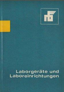 Laborgeräte und Laboreinrichtungen Katalog DDR