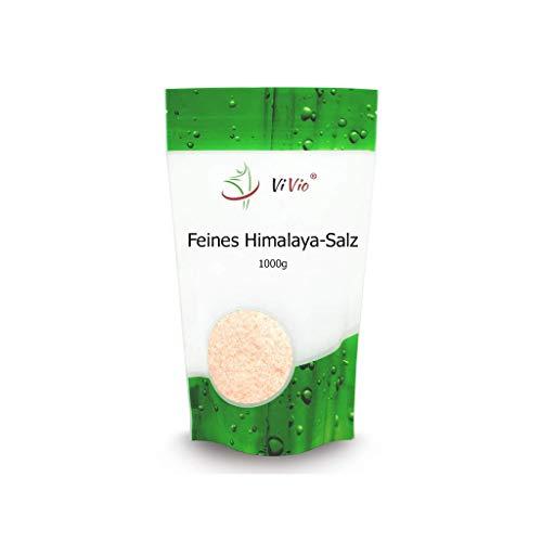 Rosa Kristallsalz gemahlen aus Pakistan (bekannt als Himalaya Salz) - 1kg fein Speisesalz - Premium Qualität - Badesalz - Reich an Mineralien - Ohne Konservierungsstoffe