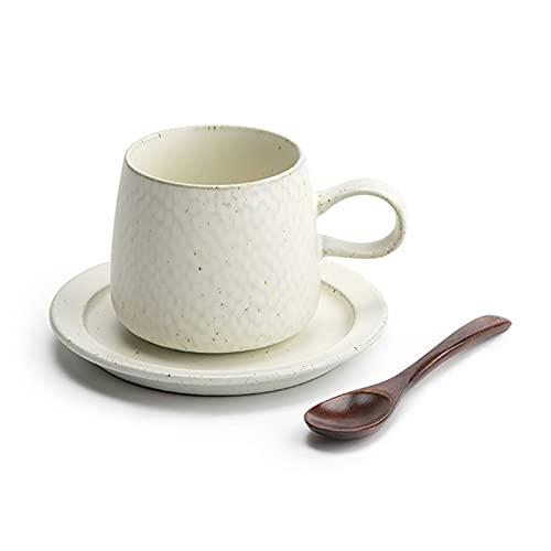 Taza de té y taza de café seguras Copas de espresso de porcelana con platillos a juego Copa de café de porcelana premium- 7.8 onza, blanco Regalos de taza para mujeres y hombres ( Color : A )