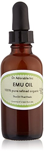 CREAMY EMU OIL BY DR.ADORABLE 100% PURE ORGANIC NATURAL 2.2 OZ WITH GLASS DROPPER