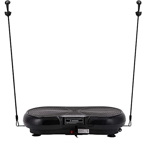 Z ZELUS Vibrationsplatte Ganzkörpertraining zu Hause Vibrationstrainer 99 Geschwindigkeiten Vibrationsboard mit Display Fernbedienung Trainingsbänder Vibrationsgerät Muskel-Rütteln (Schwarz)
