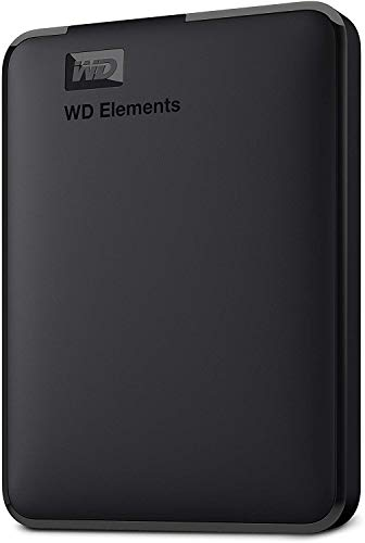 Western Digital Elements - Disco duro externo portátil de 1 TB con USB 3.0, color negro