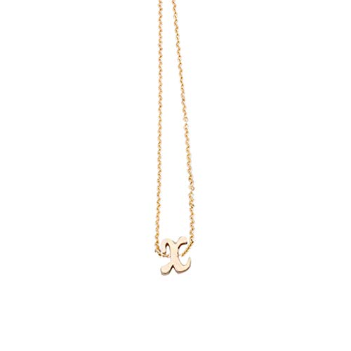 HINK Women's Alphabet Necklace Female Simple Clavicle Chain Pendant Gold Necklace Gold Jewelry & Watches Necklaces & Pendants For Woman Easter Gift