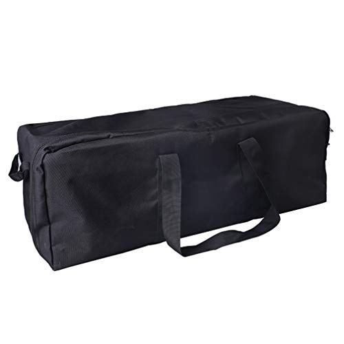 Ristiege Waterproof Duffel Bag Large Sport Camp Fishing Gear Equipment Travel Luggage,Black Small Size