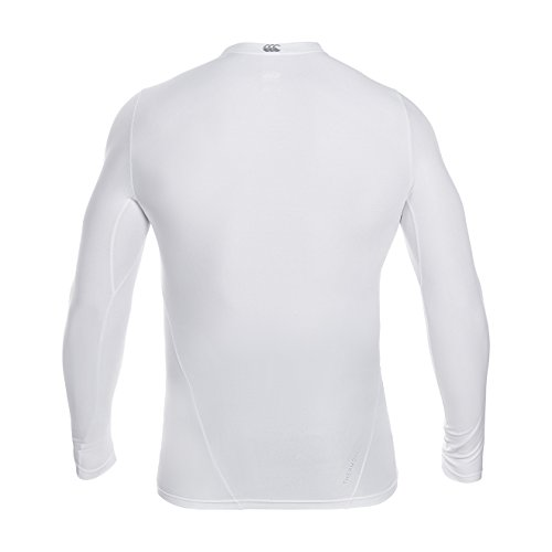 Canterbury Men's Thermoreg Long Sleeve Base Layer Top - White, Small