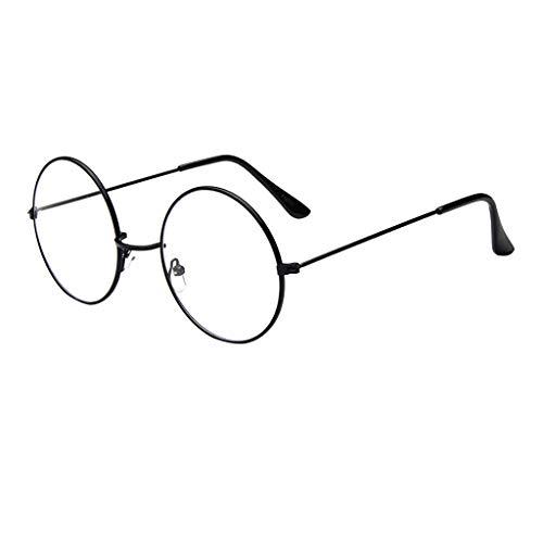 DOLDOA Blaulichtfilter Brillen Anti blaulicht Damen Herren Brillen ohne sehstärke Computer Brillen Gaming Brillen Runde Rahmen Vollrand Klare Lens Brille Light Gewicht Klassische Brillenfassung