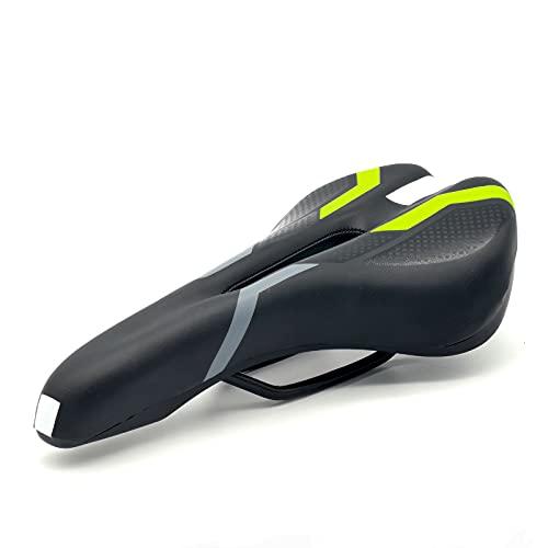 FGC Sillín amortiguado de espuma para bicicleta, unisex, impermeable y transpirable, para hombre y mujer (pertura central)