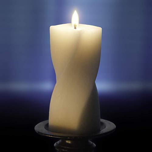 Droata Helix Pillar Candle - Ivory Beeswax Blend - 6 Inch
