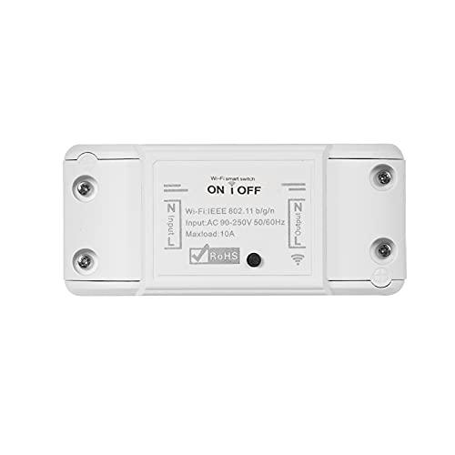 WiFi Smart Switch Compatible con Amazon Alexa y para Google Home Timer Interruptor Remoto inalámbrico de 10A / 2200W para Android/iOS App Control para Dispositivos eléctricos Universal Smart Home