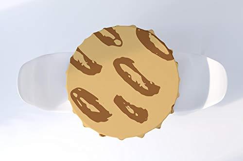 Bonamaison Mantel de Cocina Redondo Lavable para Comedor Interior y Exterior, diámetro de 140 cm, diseñado y Fabricado en Turquía