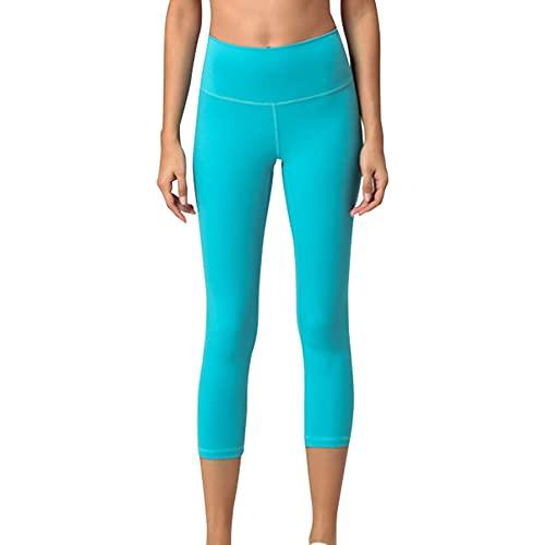 JNWBFC Pantalones De Yoga para Mujer Noveno Pantalones De Lijado De Doble Cara Nalgas Desnudas Amigables con La Piel Leggings De Cintura Alta Push Up Sport Fitness