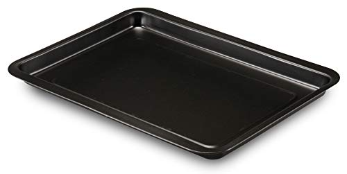 FORMEGOLOSE, Baking Sheet 26x37cm, made from metal with double layer of non-stick coating, Black Colour