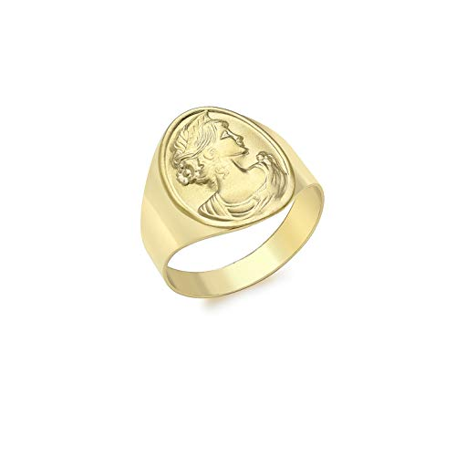 Carissima Gold Anello con Stemma da Donna Oro Giallo 9 kt, Misura 15.5