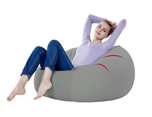 Jamba Suave algodón Lazy Couch Bean Bag Tatami Balcón Dormitorio Sala de Estar Oficina Grueso Individual Suave Sección pequeña Sección Grande (Color : Gray, Size : S)