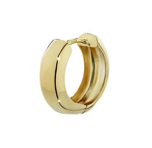 NKlaus Einzel 333er 8 Karat Gold gelbgold Klappcreole Ohrring 15 x 5,1mm Hochglanzpoliert Rund 4741