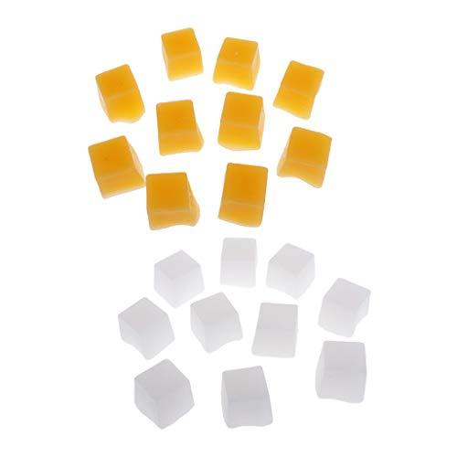 Harilla 20 Piezas de Cera para Velas, Bloques de Cera de Parafina, Bloque de Cubo, Material para Hacer Velas