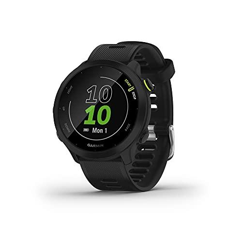 Garmin Forerunner 55 (Black), Smartwatch running con GPS, Cardio, Piani di allenamento inclusi, VO2max, Allenamenti personalizzati, Garmin Connect IQ, Taglia unica