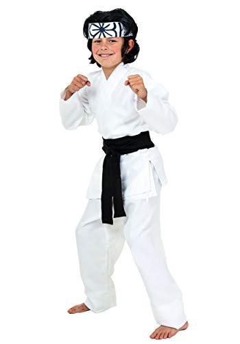 Hwoarang Karate Costumes - Child Karate Chop Daniel San Black
