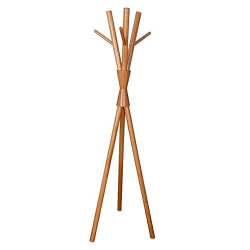 Kapstok staande garderobe netjes design kledinghanger kledingzakken 6 haken eenvoudige installatie, hout, 3 kleuren, 50x50x170cm (kleur: C, grootte: 50x50x170cm) 50x50x170cm C