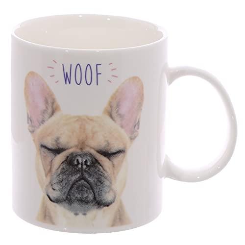 Puckator Woof - Taza (Porcelana), diseño de Bulldog francés