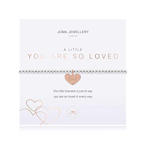 Joma Jewellery A Little You are SO Loved Silver Bracelet | 17.5cm Stretch