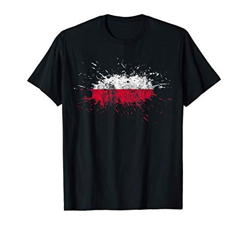 Polen Flagge T-Shirt I Geschenk Polnische Fahne Heimatliebe T-Shirt