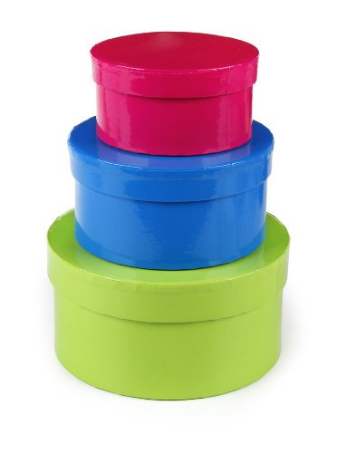 of darice box sets Darice S/3 Paper Box Set, Round, 4/5/6-Inch, Assorted Color
