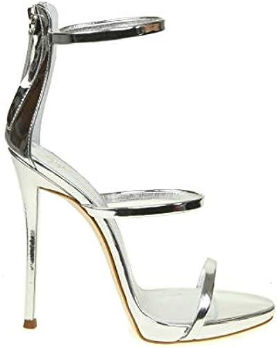 Giuseppe Zanotti Design Damen I700049025 Silber Leder Sandalen
