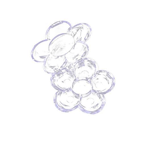 Dabixx 6 Grids Plum Blossom Flower Shape Leere Lidschatten Etui Transparent Kunststoff DIY...