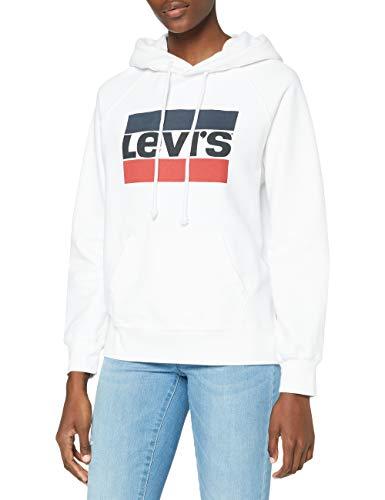 Levi's Damen Kapuzenpullover Graphic Sport Hoodie, Weiß (Sportswear Hoodiee White 0001), Small