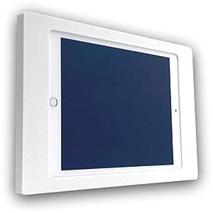 NobleFrames Tablet Wandhalterung für Apple iPad Air1, iPad Air2, iPad 5, iPad 6 und iPad Pro 9,7″ aus Mineralwerkstoff (Corian weiss)
